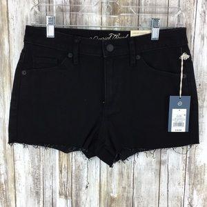 Universal Thread 4/27R black raw hem shorts black